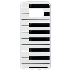 Keybord Piano Samsung Galaxy S8 White Seamless Case