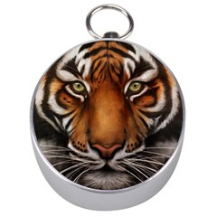 The Tiger Face Silver Compasses