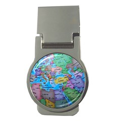 Globe World Map Maps Europe Money Clips (round)  by Samandel