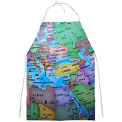 Globe World Map Maps Europe Full Print Aprons