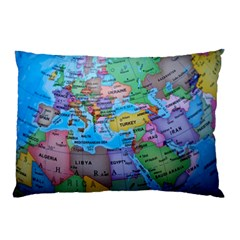 Globe World Map Maps Europe Pillow Case (two Sides)