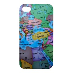 Globe World Map Maps Europe Apple Iphone 4/4s Premium Hardshell Case