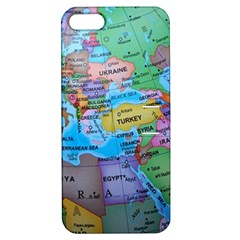 Globe World Map Maps Europe Apple Iphone 5 Hardshell Case With Stand