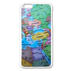 Globe World Map Maps Europe Apple Iphone 6 Plus/6s Plus Enamel White Case