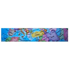 Globe World Map Maps Europe Small Flano Scarf