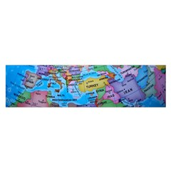 Globe World Map Maps Europe Satin Scarf (oblong)