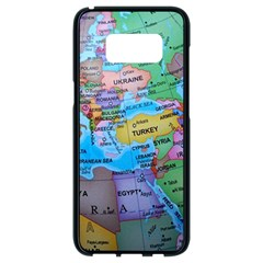 Globe World Map Maps Europe Samsung Galaxy S8 Black Seamless Case