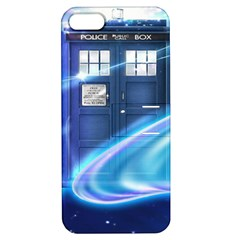 Tardis Space Apple Iphone 5 Hardshell Case With Stand