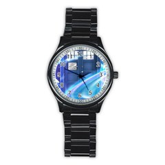 Tardis Space Stainless Steel Round Watch