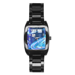 Tardis Space Stainless Steel Barrel Watch