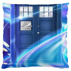 Tardis Space Standard Flano Cushion Case (one Side)