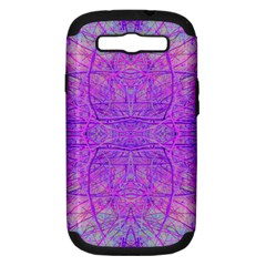 Hot Pink And Purple Abstract Branch Pattern Samsung Galaxy S Iii Hardshell Case (pc+silicone)