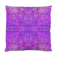 Hot Pink And Purple Abstract Branch Pattern Standard Cushion Case (two Sides) by myrubiogarden