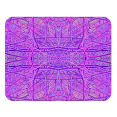 Hot Pink And Purple Abstract Branch Pattern Double Sided Flano Blanket (large)
