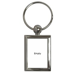 Illuminated Cityscape Against Blue Sky At Night Key Chains (rectangle)