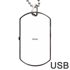 Buildinsg Near Water At Golden Hour Dog Tag Usb Flash (one Side)