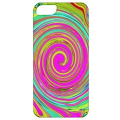 Groovy Abstract Pink, Turquoise And Yellow Swirl Apple Iphone 5 Classic Hardshell Case