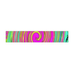 Groovy Abstract Pink, Turquoise And Yellow Swirl Flano Scarf (mini) by myrubiogarden