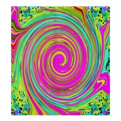 Groovy Abstract Pink, Turquoise And Yellow Swirl Shower Curtain 66  X 72  (large)  by myrubiogarden