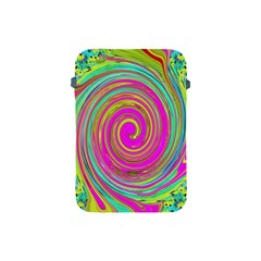 Groovy Abstract Pink, Turquoise And Yellow Swirl Apple Ipad Mini Protective Soft Cases by myrubiogarden