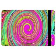 Groovy Abstract Pink, Turquoise And Yellow Swirl Ipad Air 2 Flip by myrubiogarden