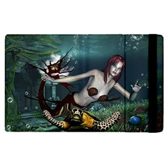 Wonderful Fmermaid With Turtle In The Deep Ocean Ipad Mini 4 by FantasyWorld7