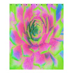 Lime Green And Pink Succulent Sedum Rosette Shower Curtain 60  X 72  (medium)  by myrubiogarden