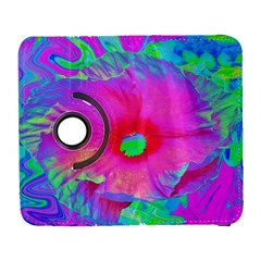 Psychedelic Pink And Red Hibiscus Flower Samsung Galaxy S  Iii Flip 360 Case by myrubiogarden