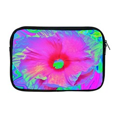 Psychedelic Pink And Red Hibiscus Flower Apple Macbook Pro 17  Zipper Case