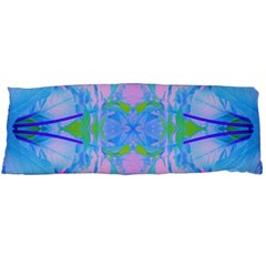 Pink And Purple Dahlia On Blue Pattern Body Pillow Case (dakimakura) by myrubiogarden