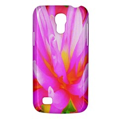Fiery Hot Pink And Yellow Cactus Dahlia Flower Samsung Galaxy S4 Mini (gt I9190) Hardshell Case  by myrubiogarden