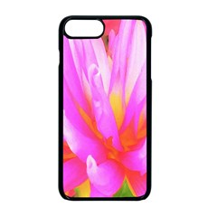 Fiery Hot Pink And Yellow Cactus Dahlia Flower Apple Iphone 8 Plus Seamless Case (black) by myrubiogarden