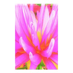 Fiery Hot Pink And Yellow Cactus Dahlia Flower Shower Curtain 48  X 72  (small)  by myrubiogarden