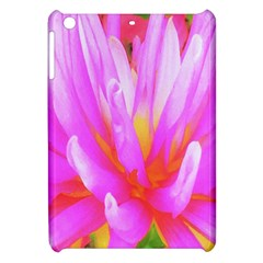 Fiery Hot Pink And Yellow Cactus Dahlia Flower Apple Ipad Mini Hardshell Case