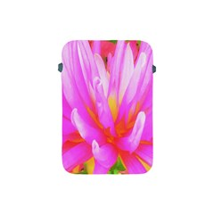 Fiery Hot Pink And Yellow Cactus Dahlia Flower Apple Ipad Mini Protective Soft Cases by myrubiogarden