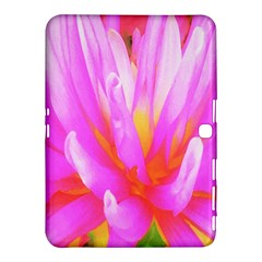 Fiery Hot Pink And Yellow Cactus Dahlia Flower Samsung Galaxy Tab 4 (10 1 ) Hardshell Case  by myrubiogarden
