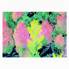 Fluorescent Yellow Smoke Tree With Pink Hydrangea Large Glasses Cloth