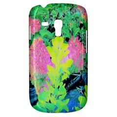Fluorescent Yellow Smoke Tree With Pink Hydrangea Samsung Galaxy S3 Mini I8190 Hardshell Case by myrubiogarden