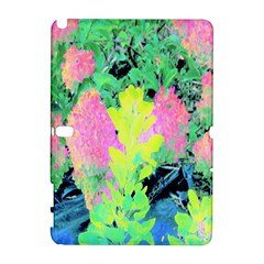 Fluorescent Yellow Smoke Tree With Pink Hydrangea Samsung Galaxy Note 10 1 (p600) Hardshell Case