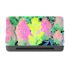 Fluorescent Yellow Smoke Tree With Pink Hydrangea Memory Card Reader With Cf