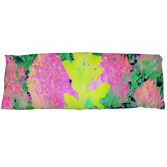 Fluorescent Yellow Smoke Tree With Pink Hydrangea Body Pillow Case Dakimakura (two Sides) by myrubiogarden