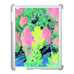Fluorescent Yellow Smoke Tree With Pink Hydrangea Apple Ipad 3/4 Case (white)