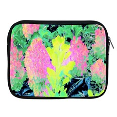 Fluorescent Yellow Smoke Tree With Pink Hydrangea Apple Ipad 2/3/4 Zipper Cases by myrubiogarden