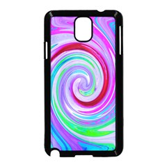 Groovy Abstract Red Swirl On Purple And Pink Samsung Galaxy Note 3 Neo Hardshell Case (black)