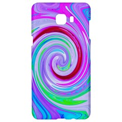 Groovy Abstract Red Swirl On Purple And Pink Samsung C9 Pro Hardshell Case  by myrubiogarden