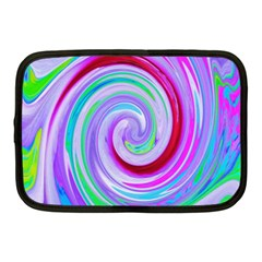 Groovy Abstract Red Swirl On Purple And Pink Netbook Case (medium) by myrubiogarden