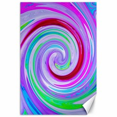 Groovy Abstract Red Swirl On Purple And Pink Canvas 20  X 30  by myrubiogarden