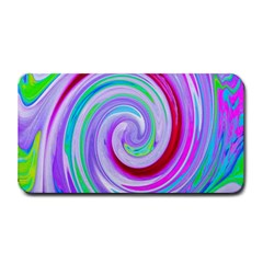 Groovy Abstract Red Swirl On Purple And Pink Medium Bar Mats by myrubiogarden