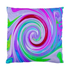 Groovy Abstract Red Swirl On Purple And Pink Standard Cushion Case (two Sides) by myrubiogarden