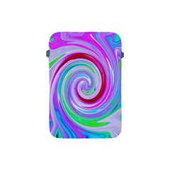 Groovy Abstract Red Swirl On Purple And Pink Apple Ipad Mini Protective Soft Cases by myrubiogarden